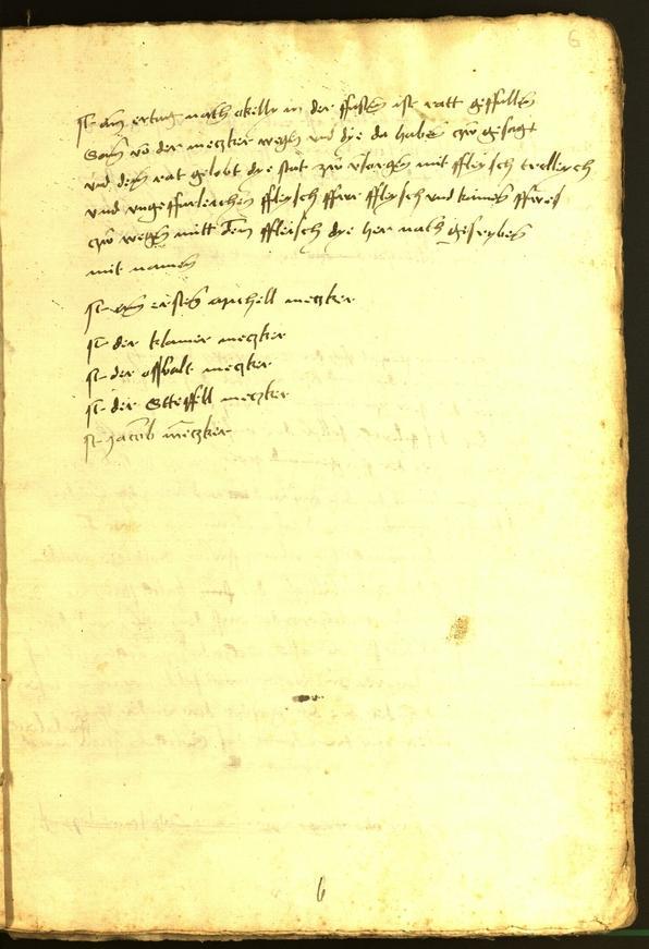 Stadtarchiv Bozen - BOhisto Ratsprotokoll 1470