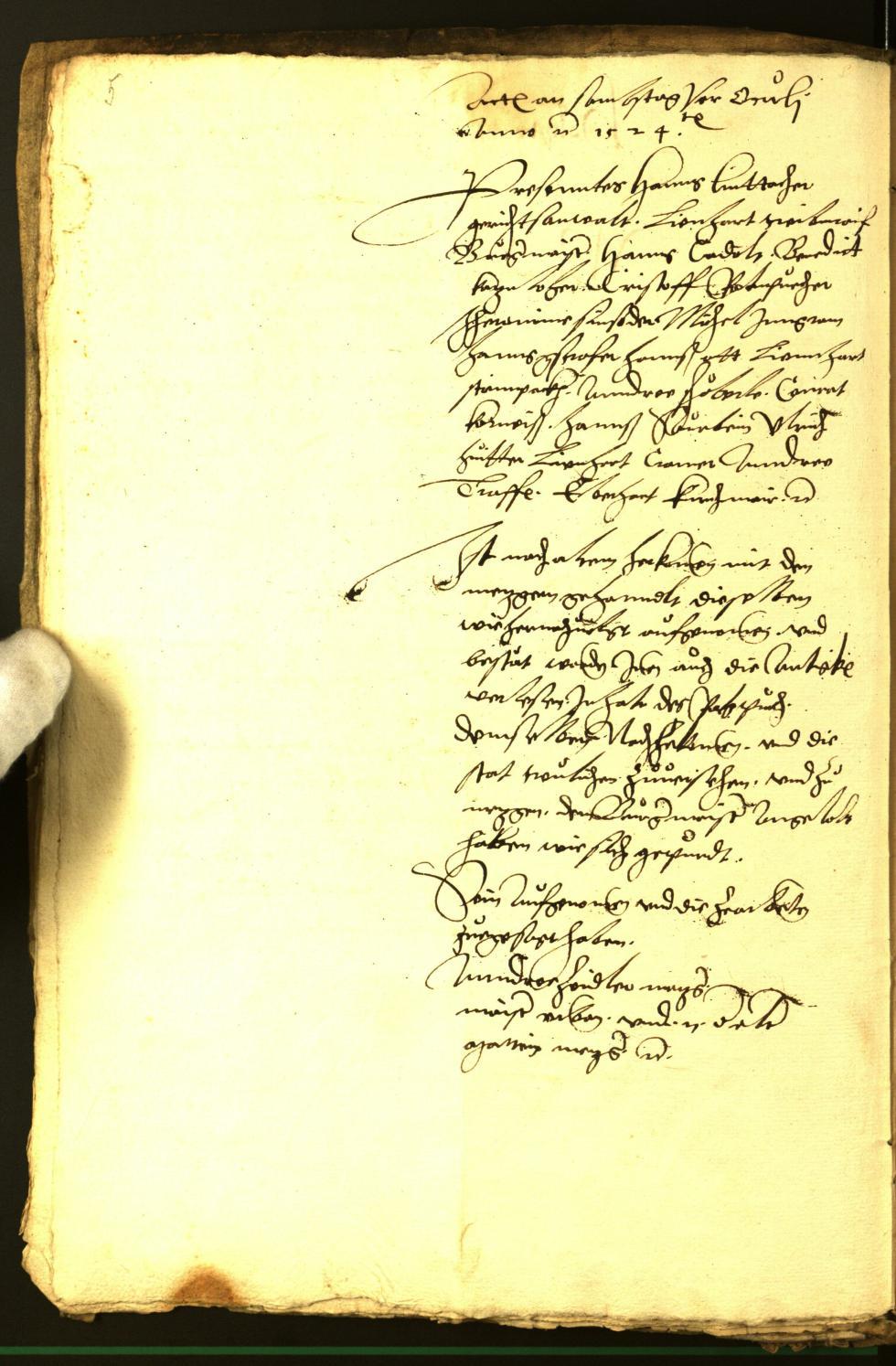 Archivio Storico della Città di Bolzano - BOhisto protocollo consiliare 1524/26