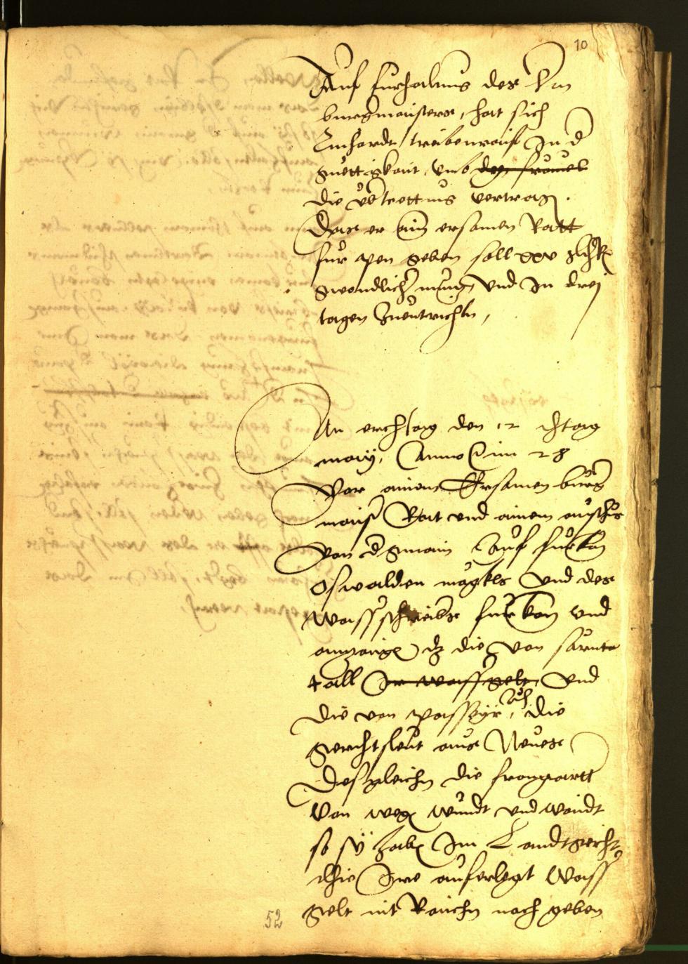 Stadtarchiv Bozen - BOhisto Ratsprotokoll 1528
