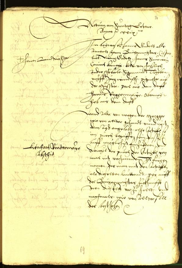 Stadtarchiv Bozen - BOhisto Ratsprotokoll 1529