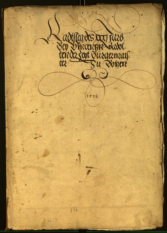 Stadtarchiv Bozen - BOhisto Ratsprotokoll 1531