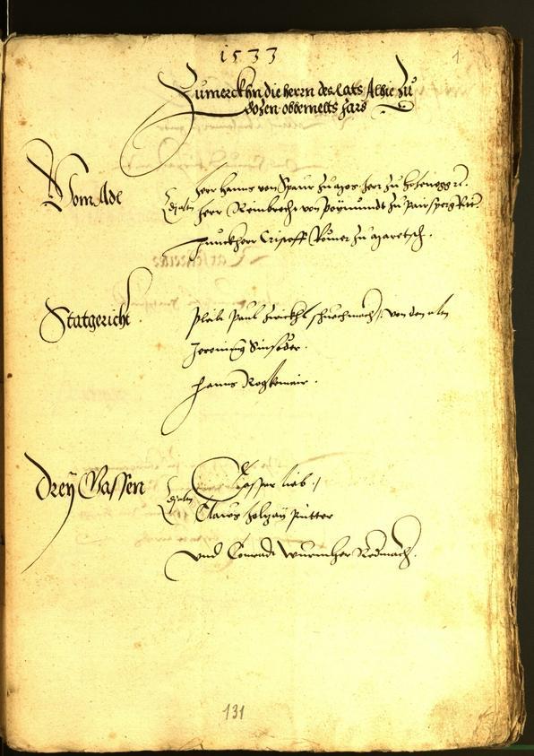 Archivio Storico della Città di Bolzano - BOhisto protocollo consiliare 1533