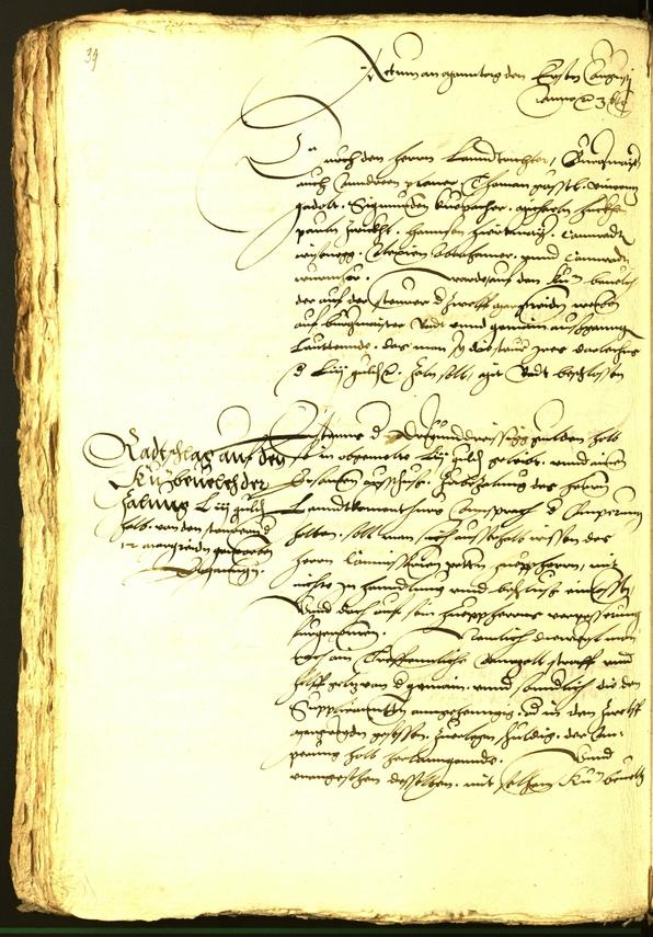 Archivio Storico della Città di Bolzano - BOhisto protocollo consiliare 1536