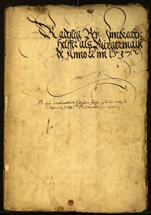 Civic Archives of Bozen-Bolzano - BOhisto Minutes of the council 1537
