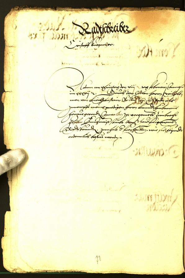 Archivio Storico della Città di Bolzano - BOhisto protocollo consiliare 1537