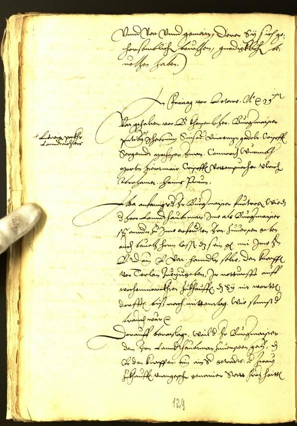 Stadtarchiv Bozen - BOhisto Ratsprotokoll 1539