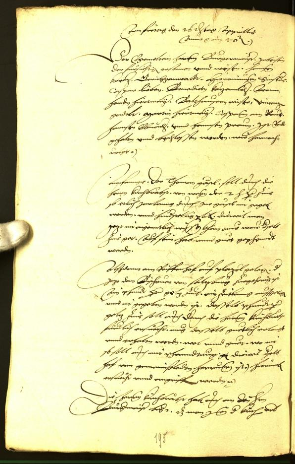 Stadtarchiv Bozen - BOhisto Ratsprotokoll 1540