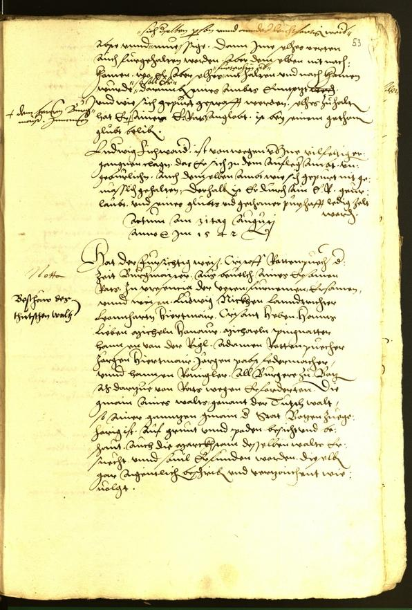 Civic Archives of Bozen-Bolzano - BOhisto Minutes of the council 1542