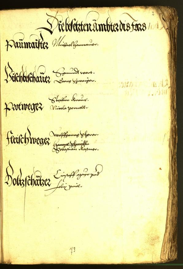 Civic Archives of Bozen-Bolzano - BOhisto Minutes of the council 1543