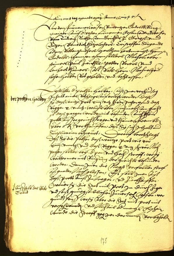 Archivio Storico della Città di Bolzano - BOhisto protocollo consiliare 1545