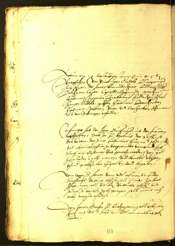 Stadtarchiv Bozen - BOhisto Ratsprotokoll 1545