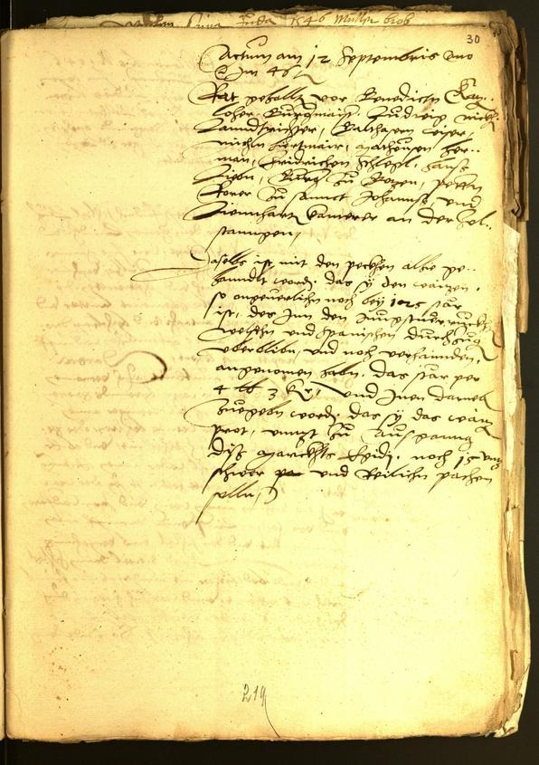 Stadtarchiv Bozen - BOhisto Ratsprotokoll 1546