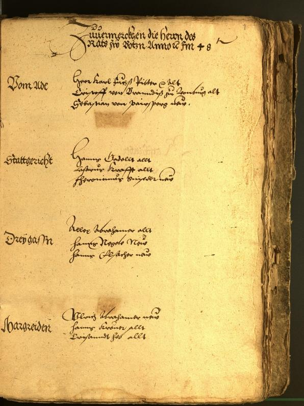 Archivio Storico della Città di Bolzano - BOhisto protocollo consiliare 1548