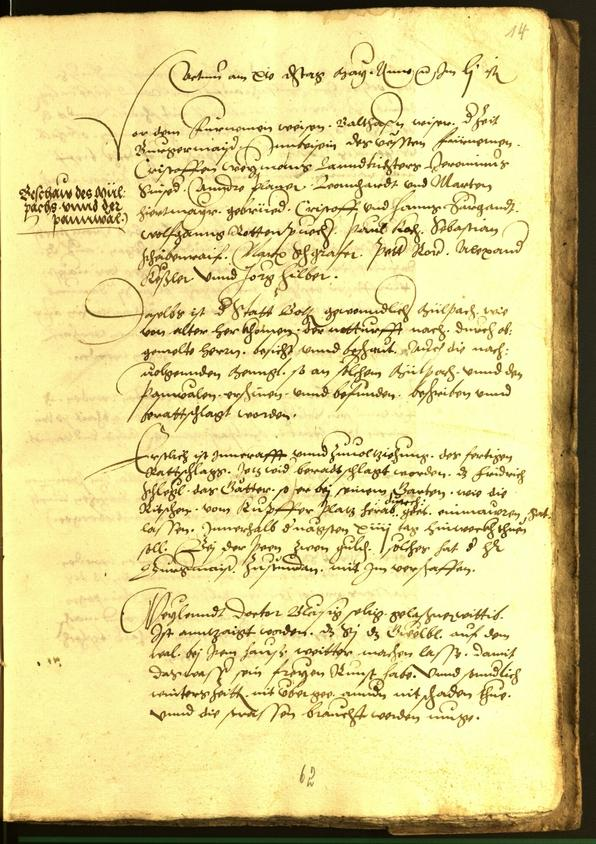 Stadtarchiv Bozen - BOhisto Ratsprotokoll 1552