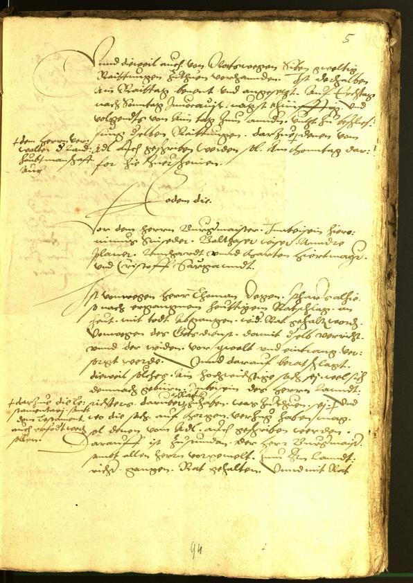 Archivio Storico della Città di Bolzano - BOhisto protocollo consiliare 1554