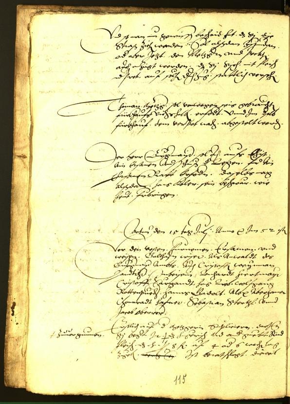 Stadtarchiv Bozen - BOhisto Ratsprotokoll 1554