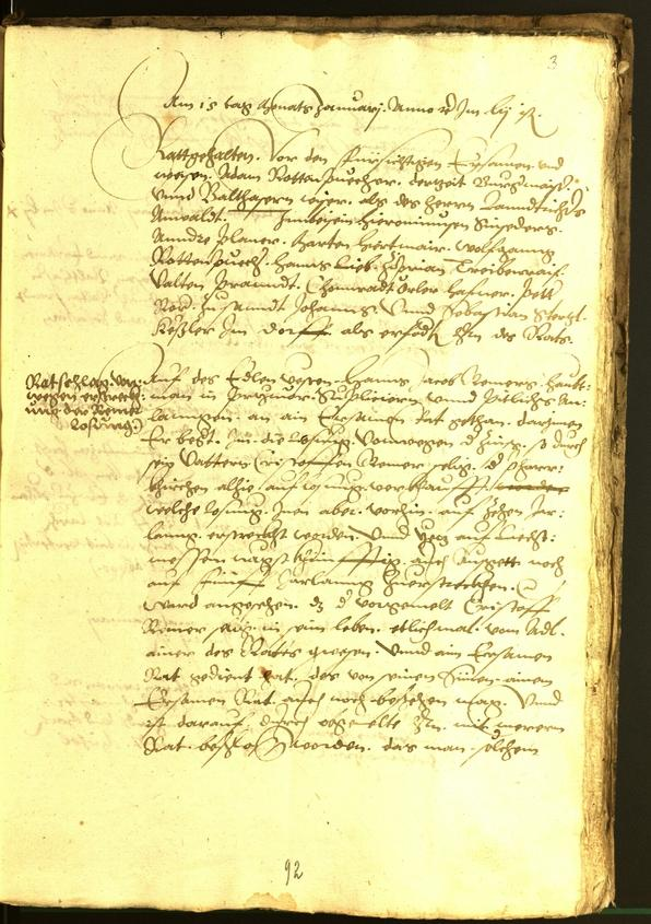 Civic Archives of Bozen-Bolzano - BOhisto Minutes of the council 1554