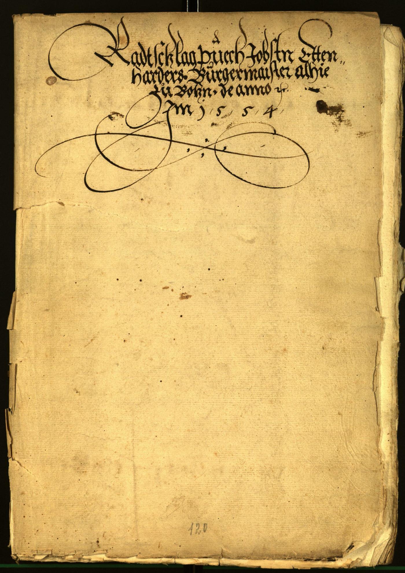 Stadtarchiv Bozen - BOhisto Ratsprotokoll 1556