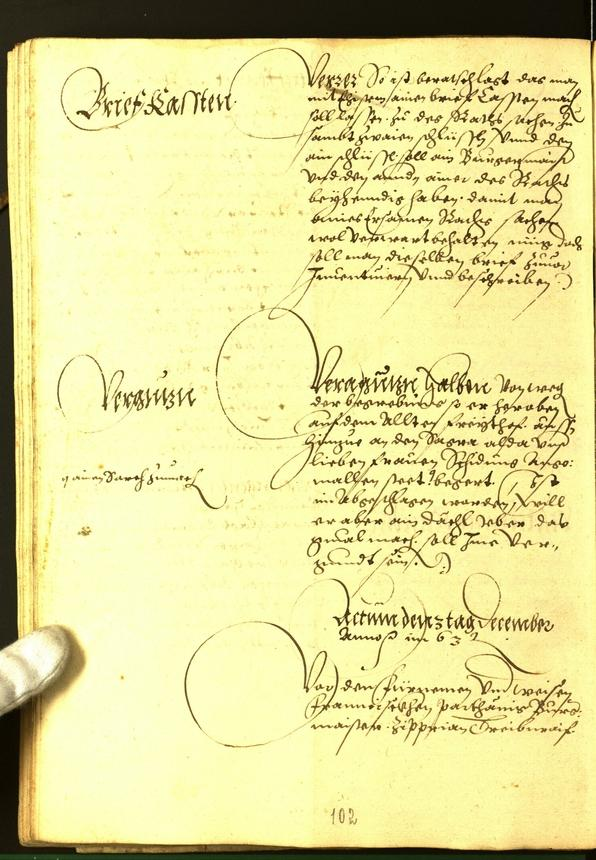 Stadtarchiv Bozen - BOhisto Ratsprotokoll 1563