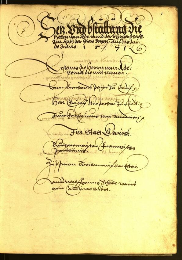 Stadtarchiv Bozen - BOhisto Ratsprotokoll 1571