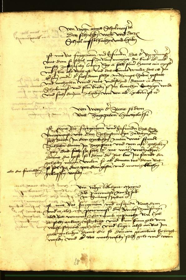 Stadtarchiv Bozen - BOhisto Ratsprotokoll 1472 fol. 5r