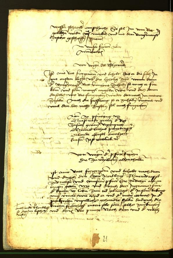 Stadtarchiv Bozen - BOhisto Ratsprotokoll 1472 fol. 5v