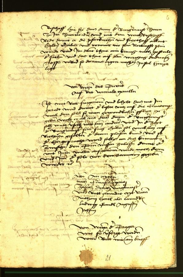 Stadtarchiv Bozen - BOhisto Ratsprotokoll 1472 fol. 6r