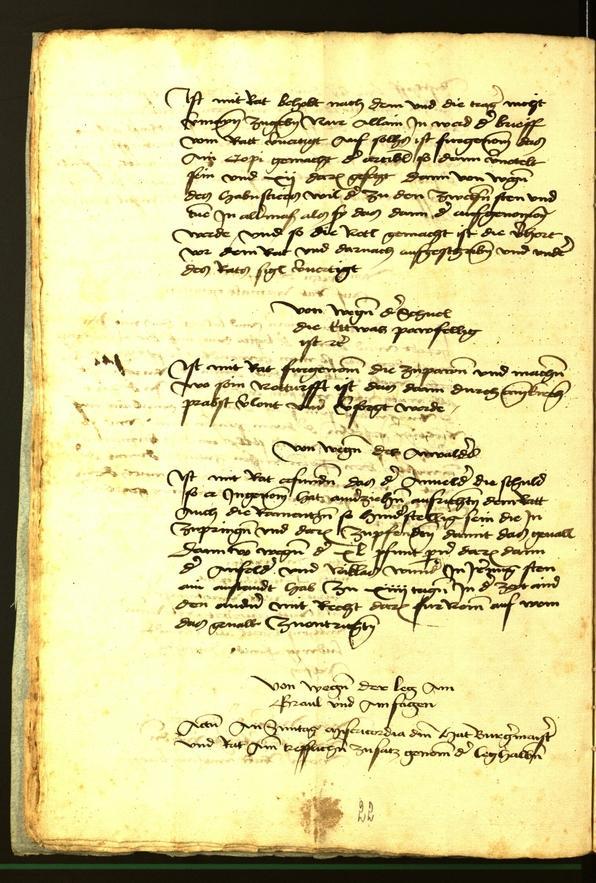 Stadtarchiv Bozen - BOhisto Ratsprotokoll 1472 fol. 6v