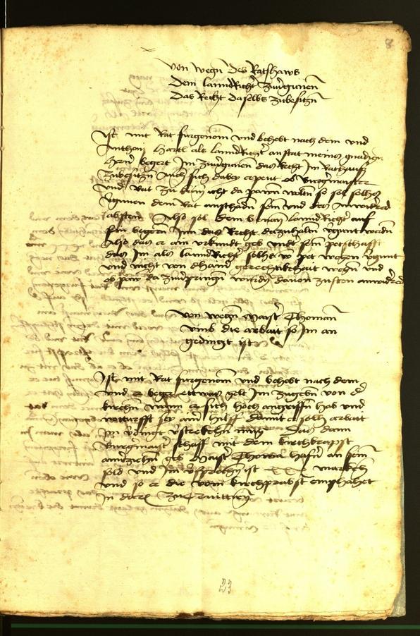 Stadtarchiv Bozen - BOhisto Ratsprotokoll 1472 fol. 8r