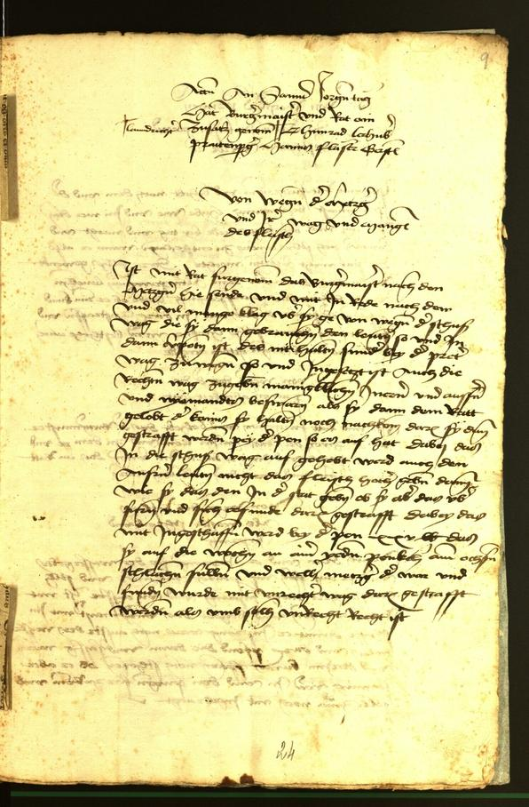 Archivio Storico della Città di Bolzano - BOhisto protocollo consiliare 1472 fol. 9r
