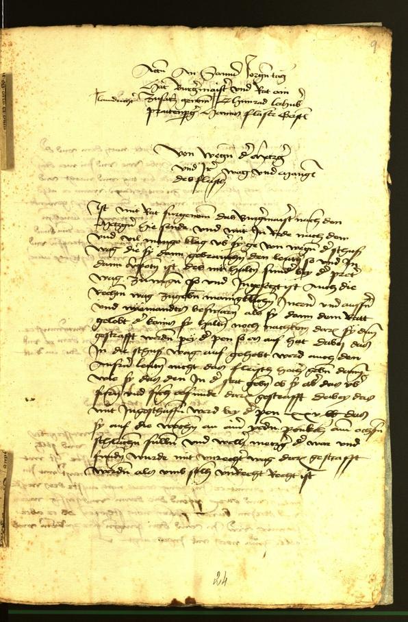 Stadtarchiv Bozen - BOhisto Ratsprotokoll 1472 fol. 9r