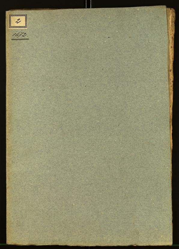 Stadtarchiv Bozen - BOhisto Ratsprotokoll 1472 Deckblatt vorne außen