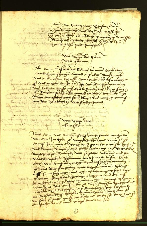Stadtarchiv Bozen - BOhisto Ratsprotokoll 1472 fol. 11r