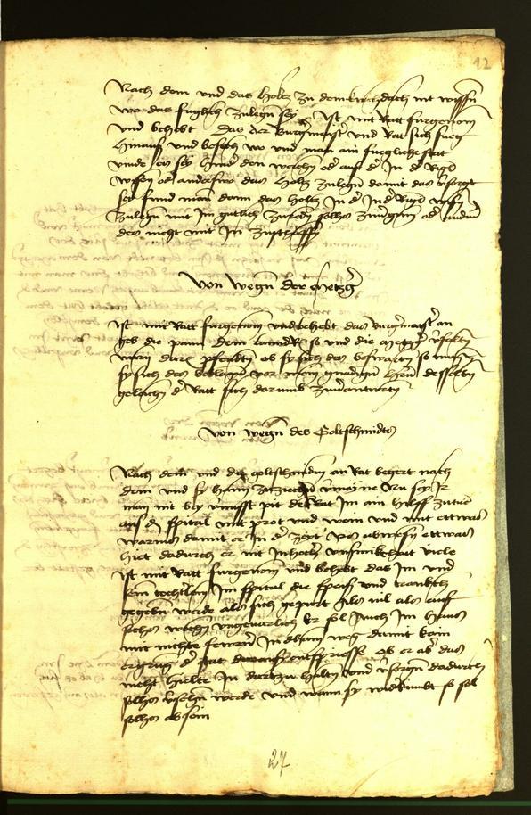 Stadtarchiv Bozen - BOhisto Ratsprotokoll 1472 fol. 12r