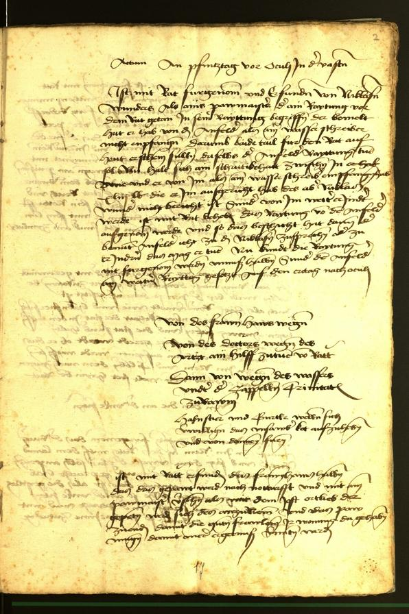 Stadtarchiv Bozen - BOhisto Ratsprotokoll 1472 fol. 2r