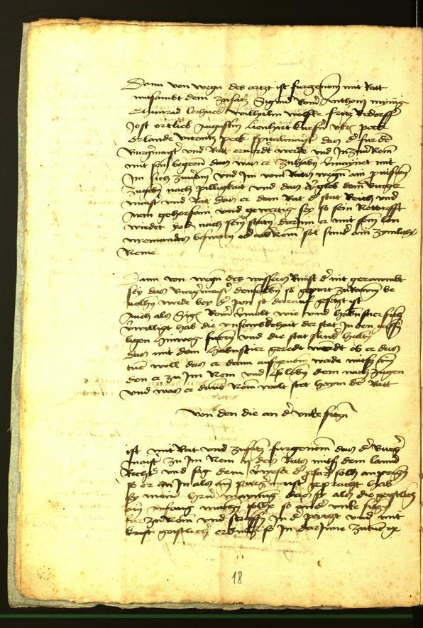 Stadtarchiv Bozen - BOhisto Ratsprotokoll 1472 fol. 2v