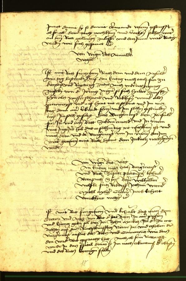 Stadtarchiv Bozen - BOhisto Ratsprotokoll 1472 fol. 3r