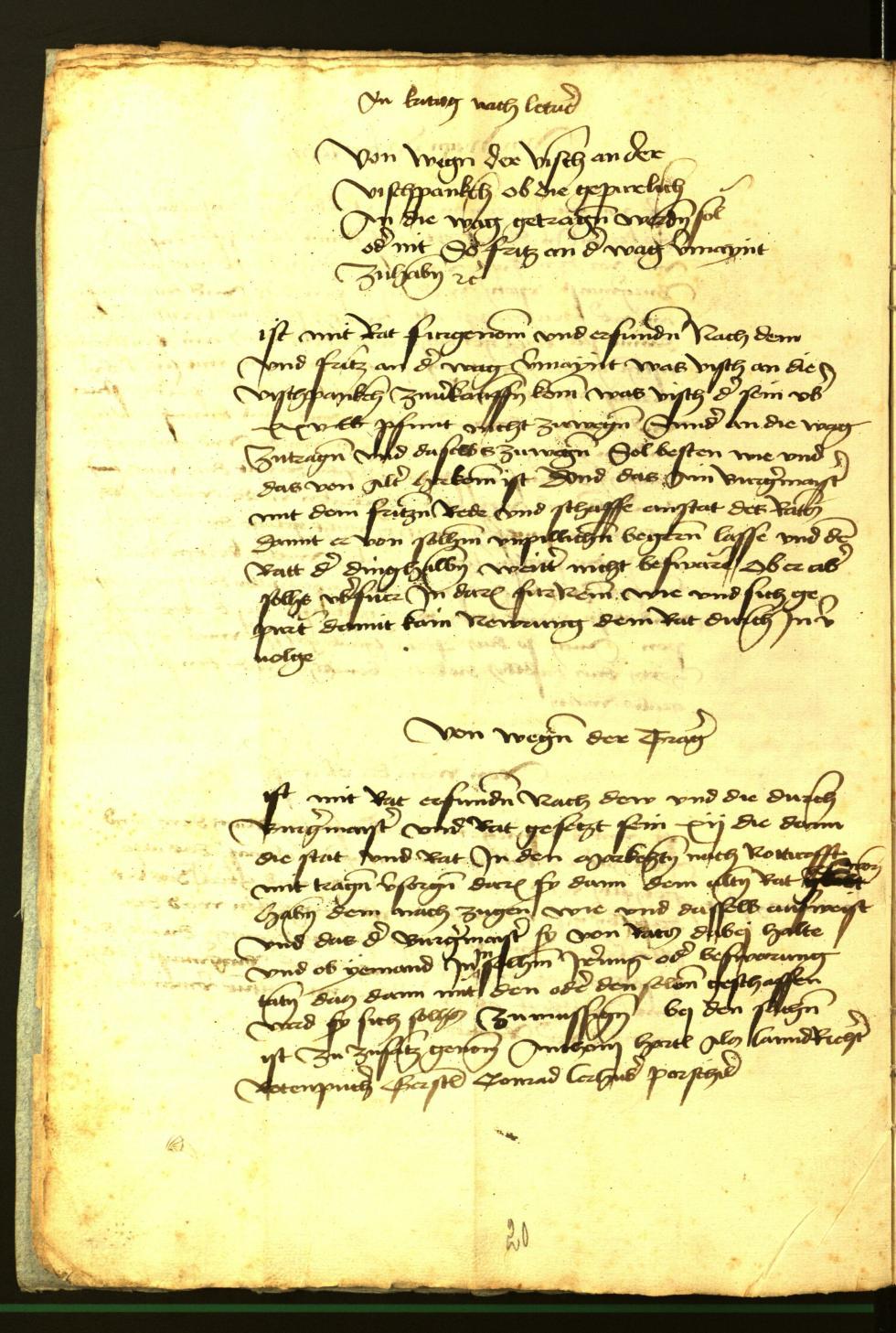 Stadtarchiv Bozen - BOhisto Ratsprotokoll 1472 fol. 4v