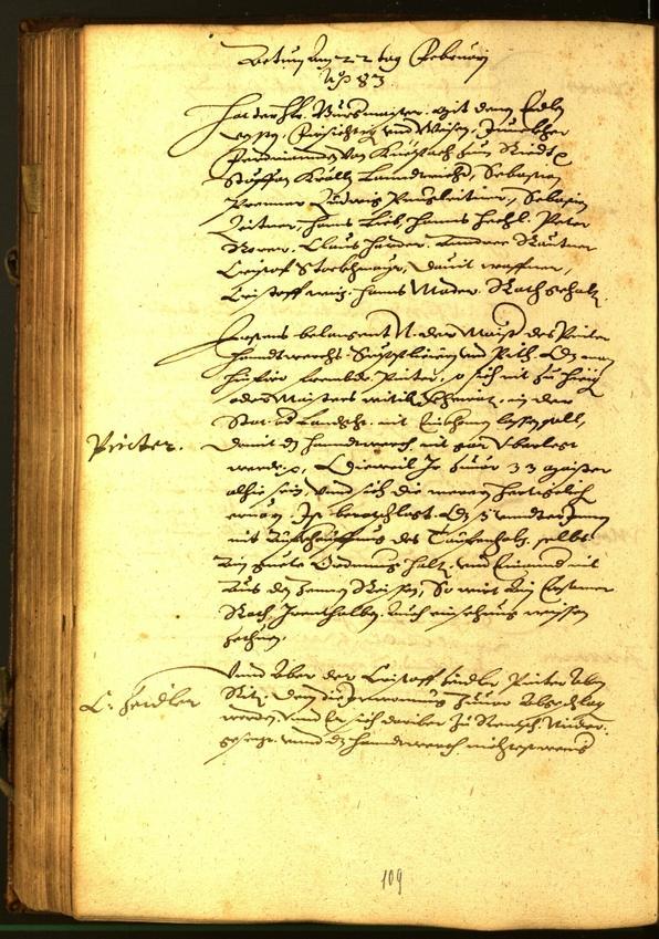 Stadtarchiv Bozen - BOhisto Ratsprotokoll 1583