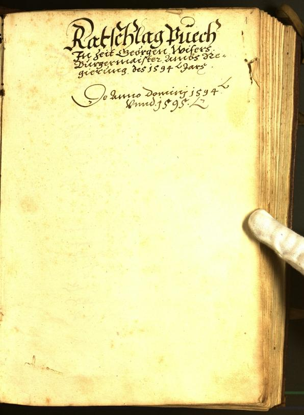 Stadtarchiv Bozen - BOhisto Ratsprotokoll 1594