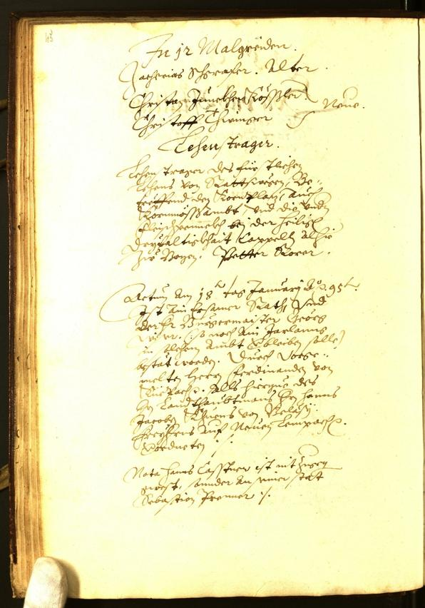 Civic Archives of Bozen-Bolzano - BOhisto Minutes of the council 1595