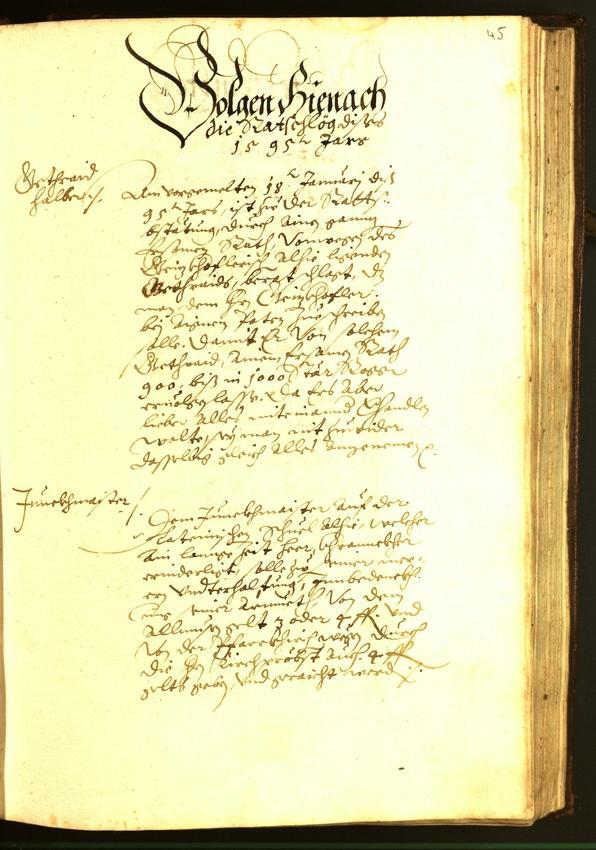 Archivio Storico della Città di Bolzano - BOhisto protocollo consiliare 1595