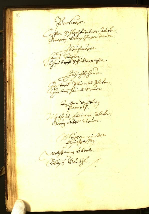 Stadtarchiv Bozen - BOhisto Ratsprotokoll 1595