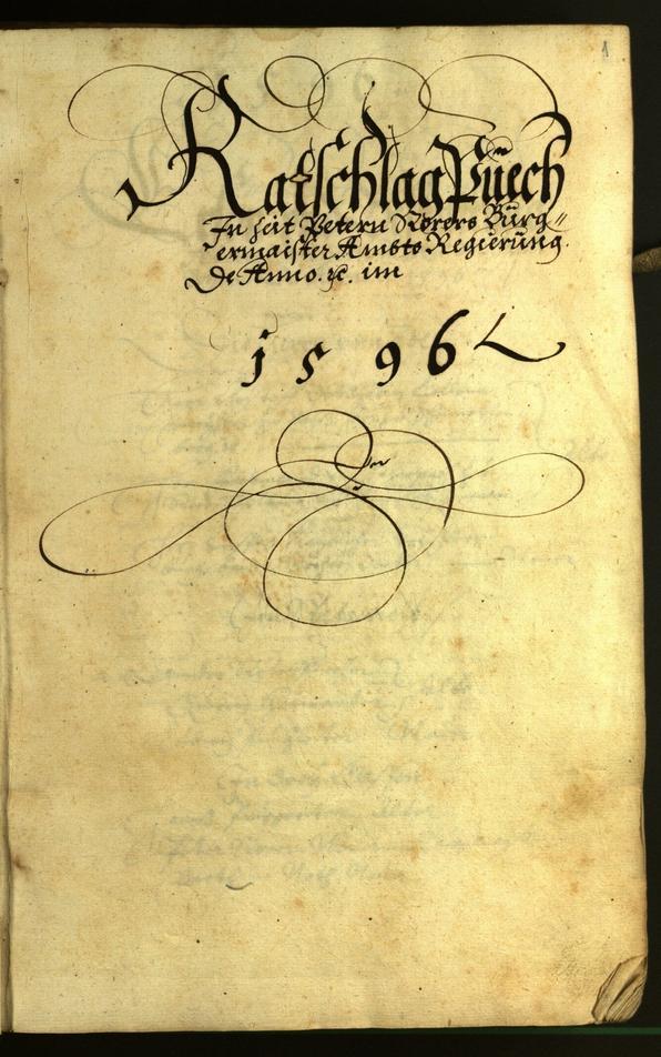 Civic Archives of Bozen-Bolzano - BOhisto Minutes of the council 1596