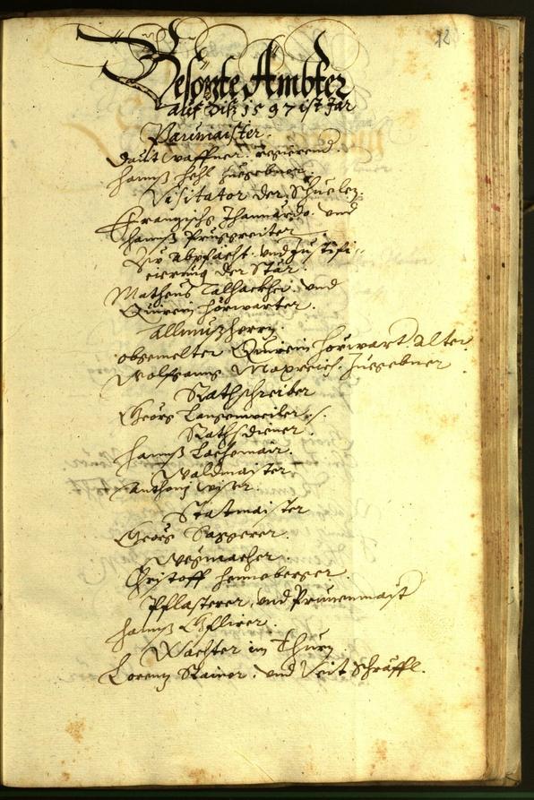 Stadtarchiv Bozen - BOhisto Ratsprotokoll 1597