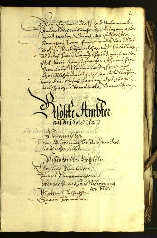 Civic Archives of Bozen-Bolzano - BOhisto Minutes of the council 1602