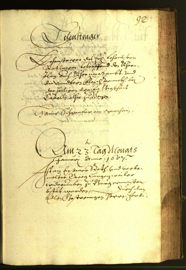 Civic Archives of Bozen-Bolzano - BOhisto Minutes of the council 1607