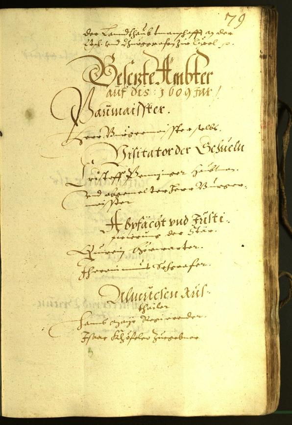 Stadtarchiv Bozen - BOhisto Ratsprotokoll 1609