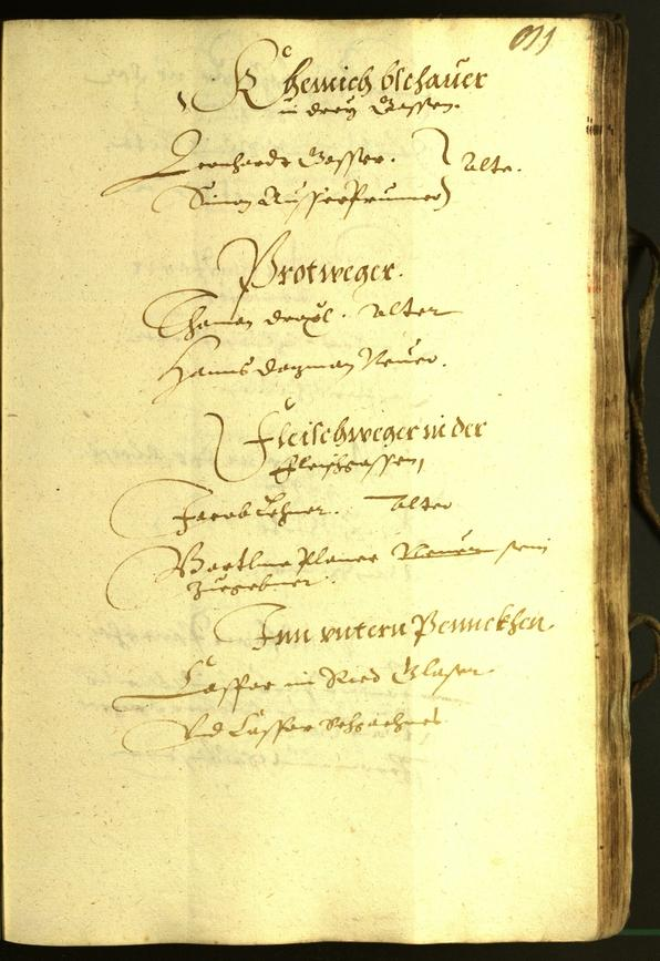 Civic Archives of Bozen-Bolzano - BOhisto Minutes of the council 1609