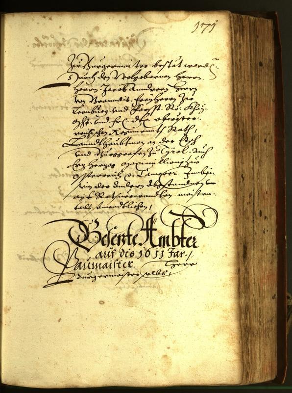 Stadtarchiv Bozen - BOhisto Ratsprotokoll 1611